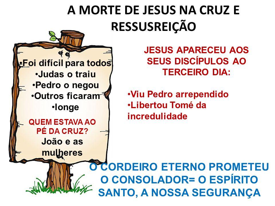 A MORTE DE JESUS NA CRUZ E RESSUSREIÇÃO
