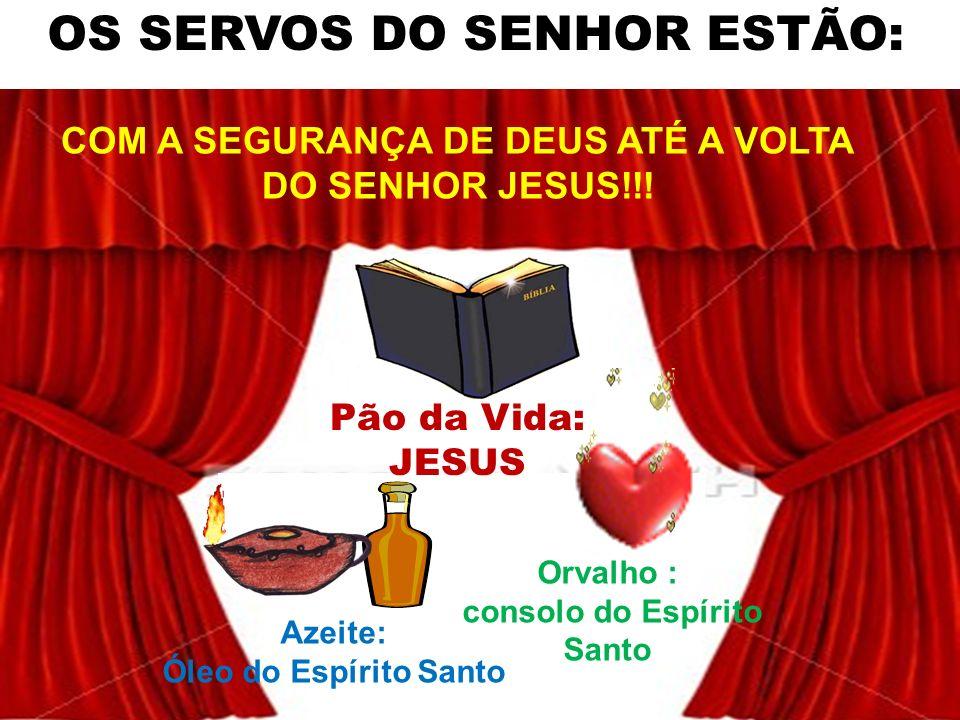 OS SERVOS DO SENHOR ESTÃO: