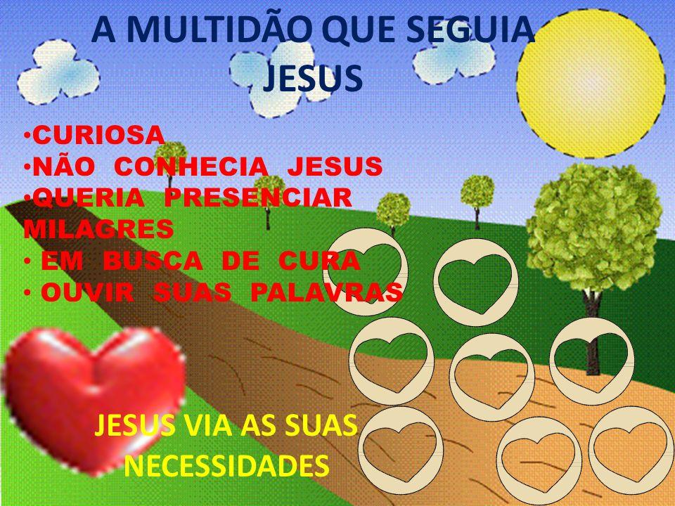 A MULTIDÃO QUE SEGUIA JESUS JESUS VIA AS SUAS NECESSIDADES