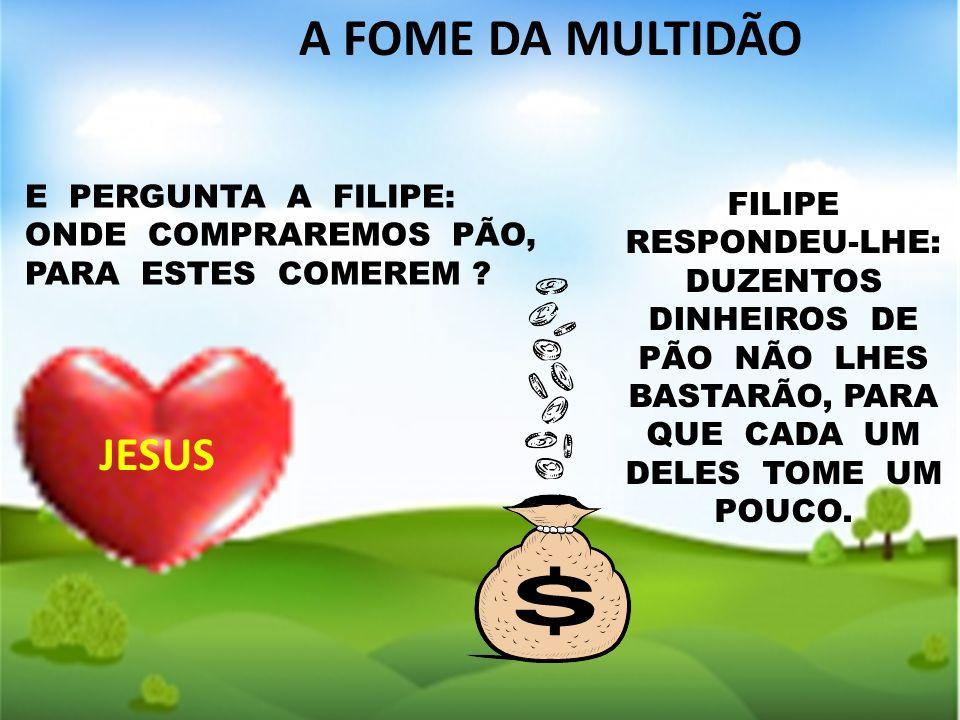 A FOME DA MULTIDÃO JESUS