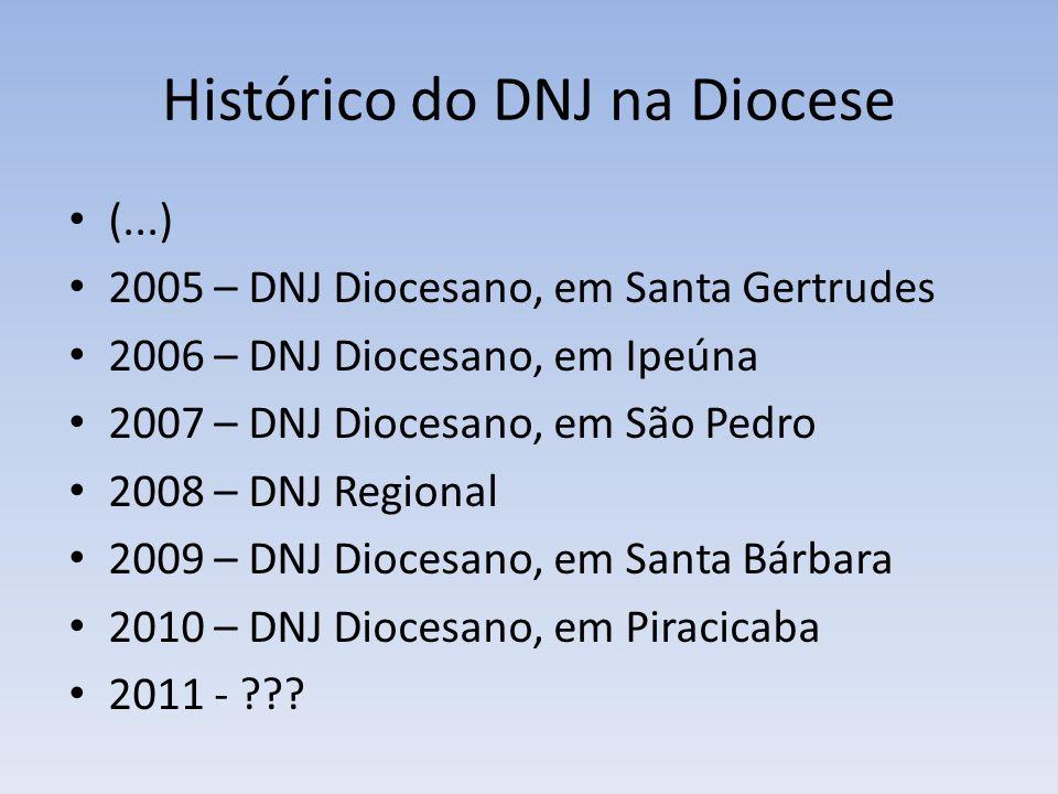 Histórico do DNJ na Diocese