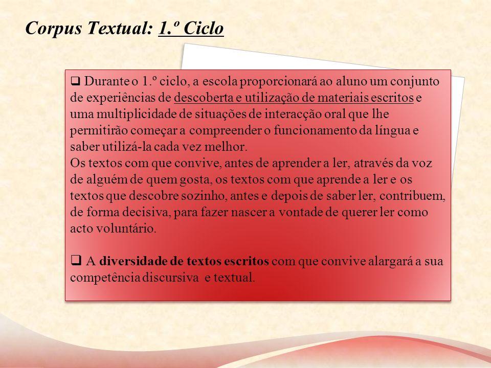 Corpus Textual: 1.º Ciclo