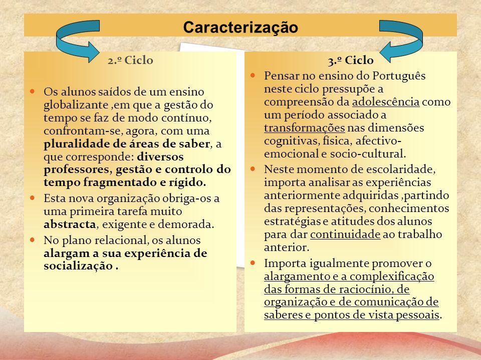 Caracterização 2.º Ciclo