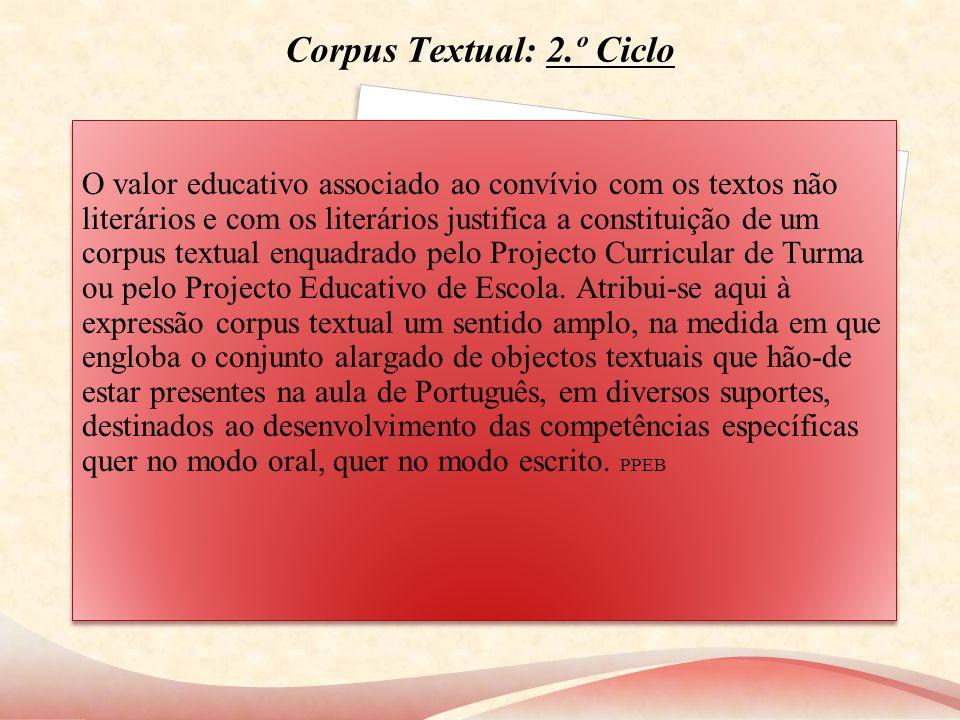Corpus Textual: 2.º Ciclo