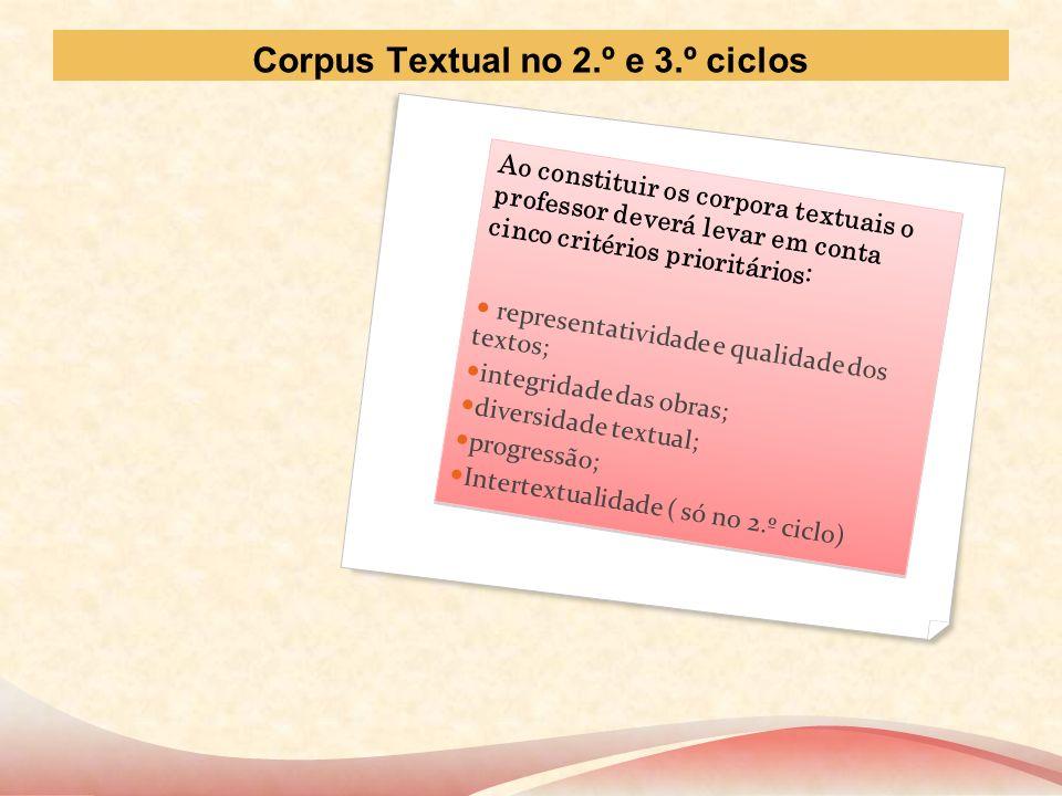 Corpus Textual no 2.º e 3.º ciclos