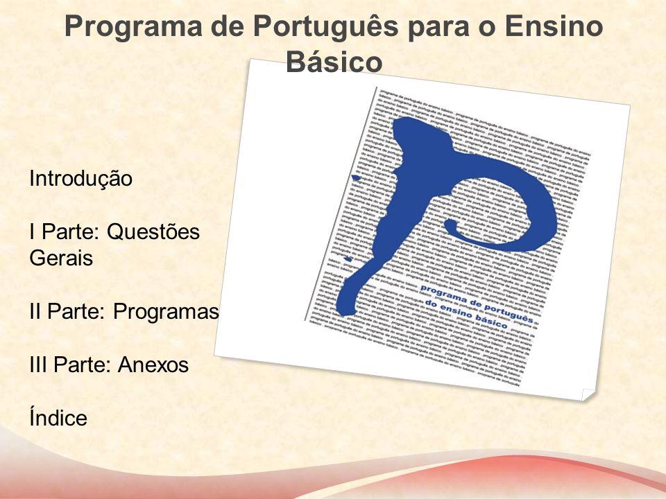 Programa de Português para o Ensino Básico