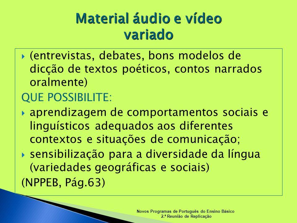 Material áudio e vídeo variado