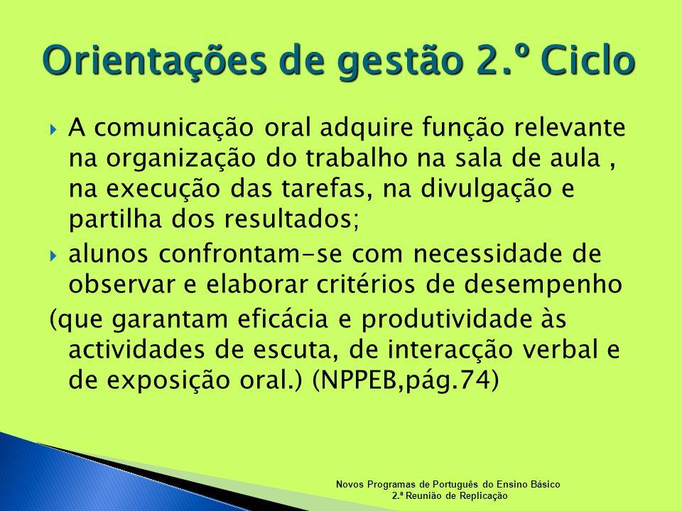 Orientações de gestão 2.º Ciclo