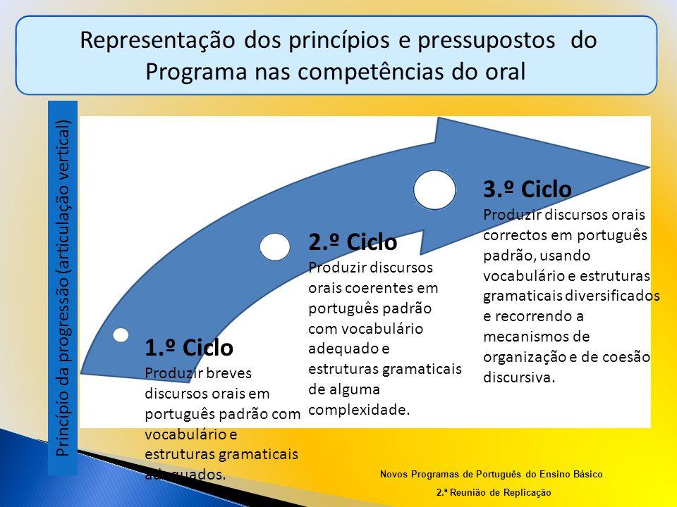 Representação dos princípios e pressupostos do Programa nas competências do oral