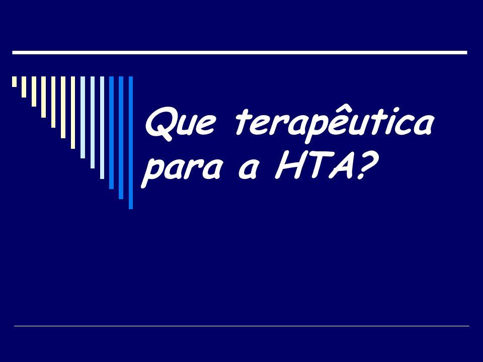Que terapêutica para a HTA