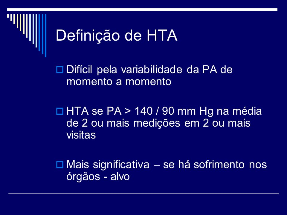 Definição de HTA Difícil pela variabilidade da PA de momento a momento