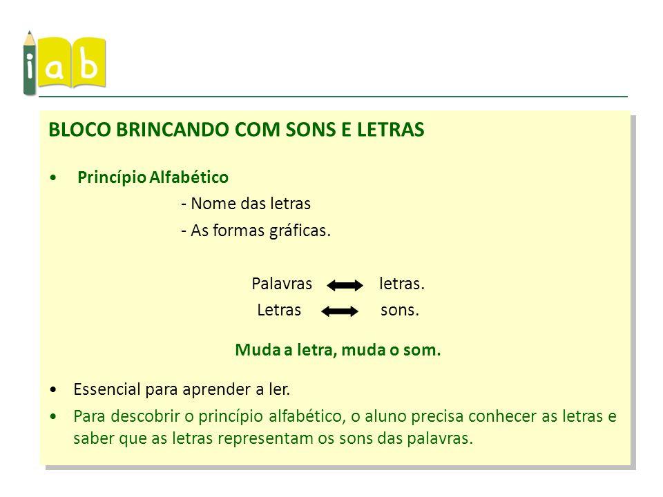 BLOCO BRINCANDO COM SONS E LETRAS