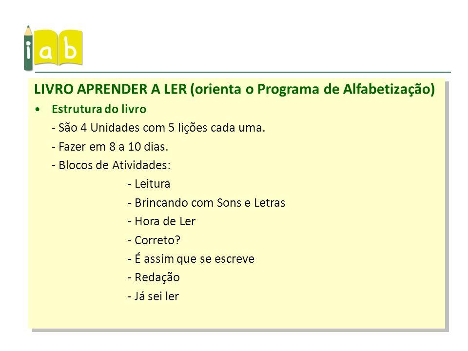 LIVRO APRENDER A LER (orienta o Programa de Alfabetização)