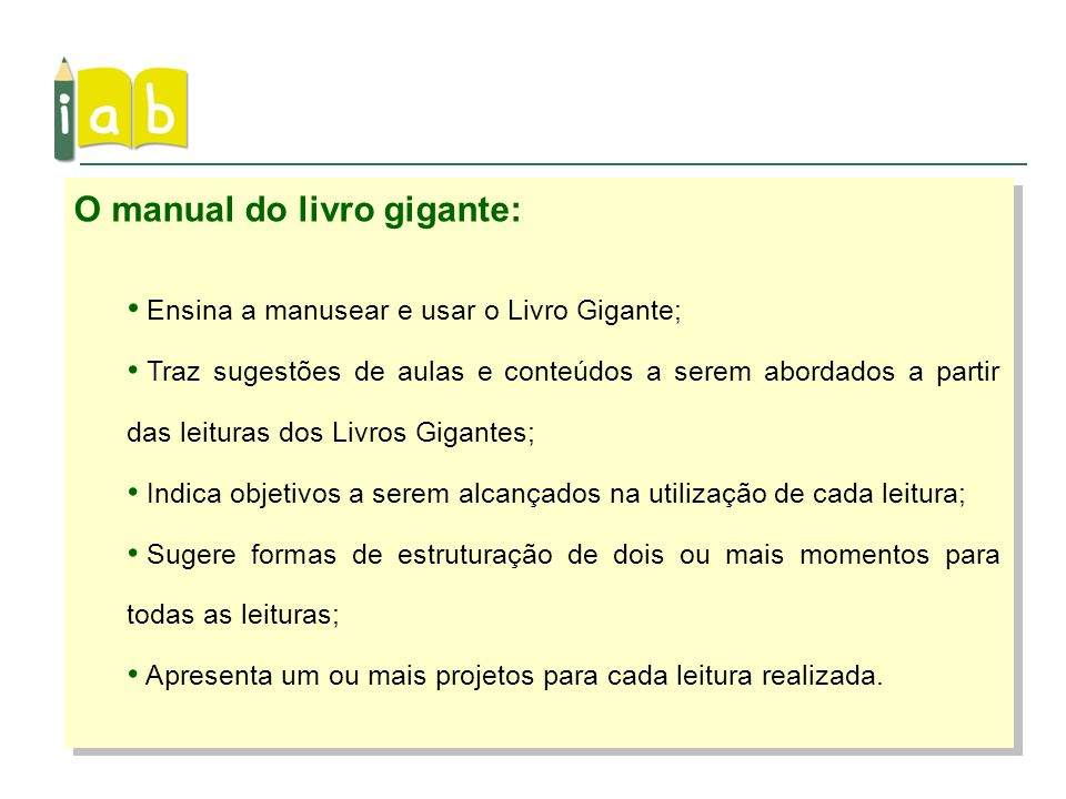O manual do livro gigante: