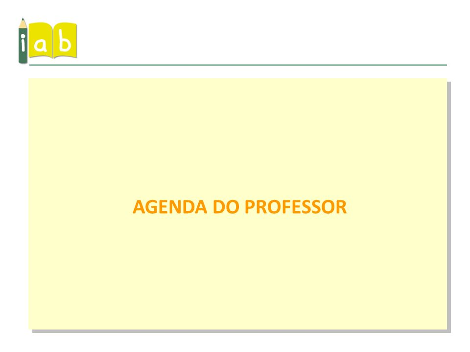AGENDA DO PROFESSOR