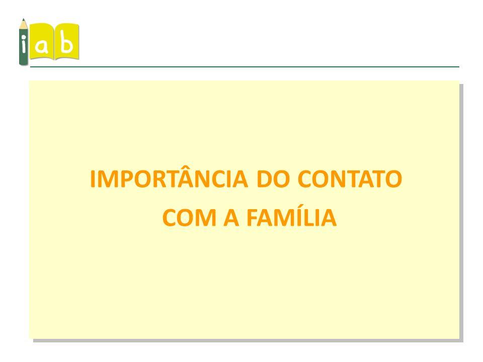 IMPORTÂNCIA DO CONTATO