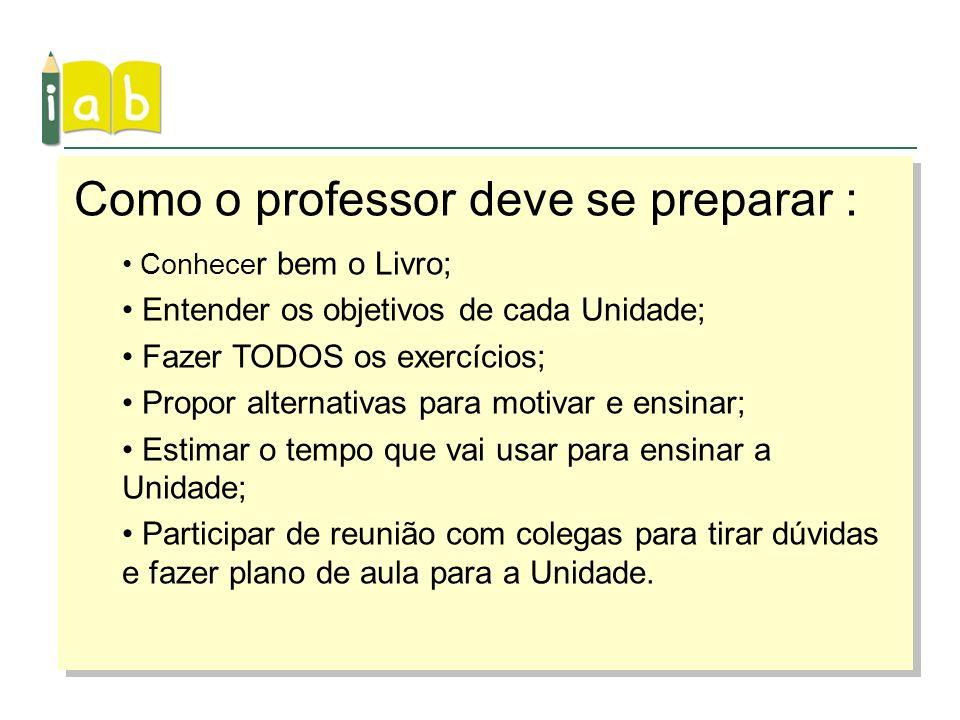 Como o professor deve se preparar :
