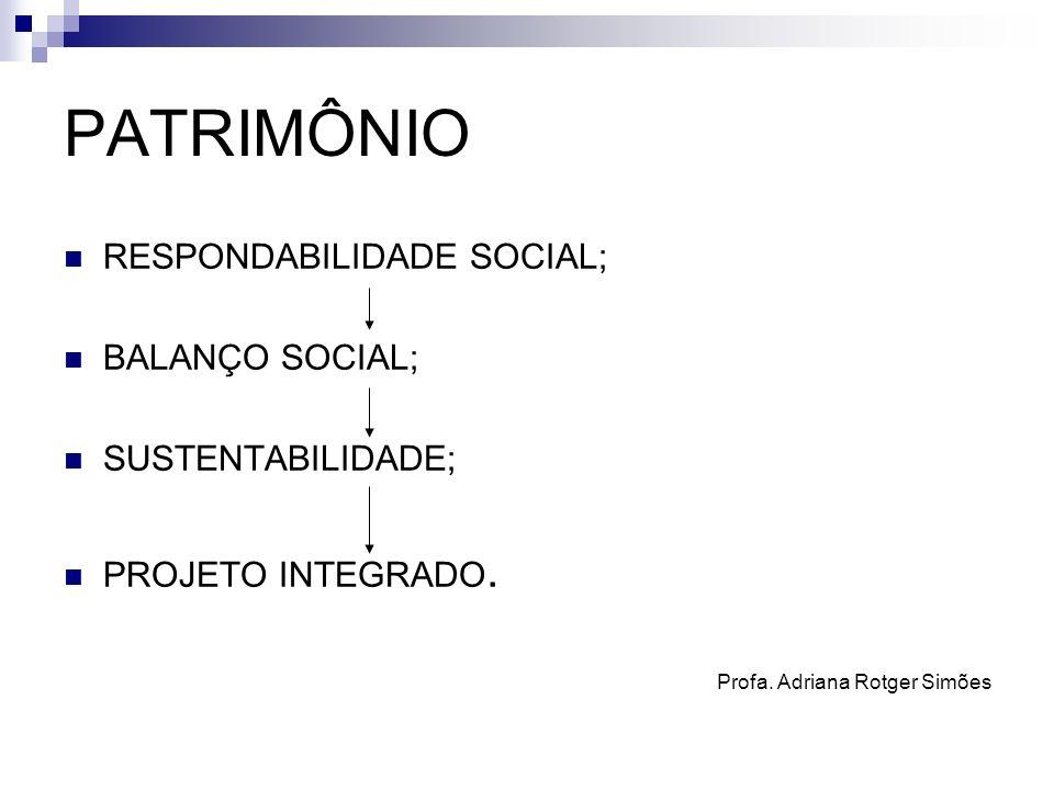PATRIMÔNIO RESPONDABILIDADE SOCIAL; BALANÇO SOCIAL; SUSTENTABILIDADE;