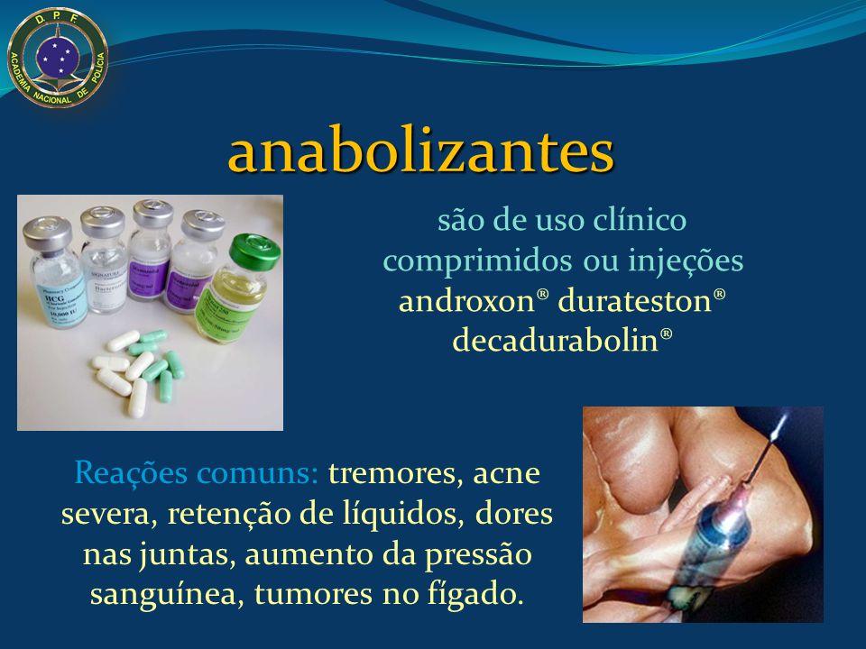 anabolizantes são de uso clínico comprimidos ou injeções