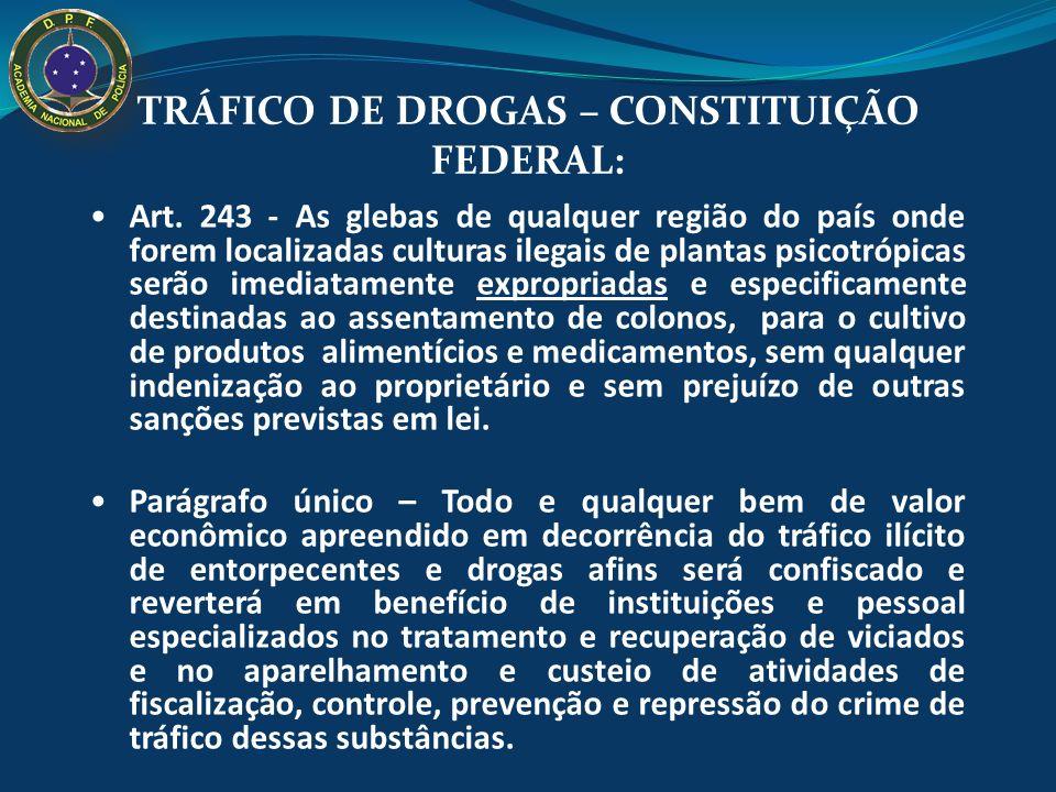 TRÁFICO DE DROGAS – CONSTITUIÇÃO FEDERAL: