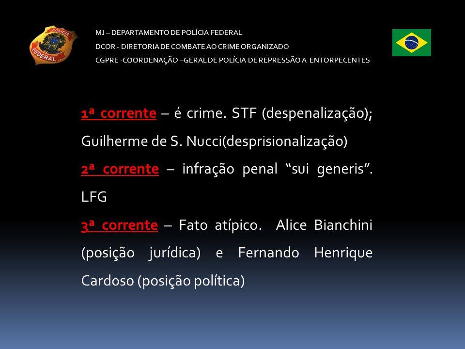 2ª corrente – infração penal sui generis . LFG