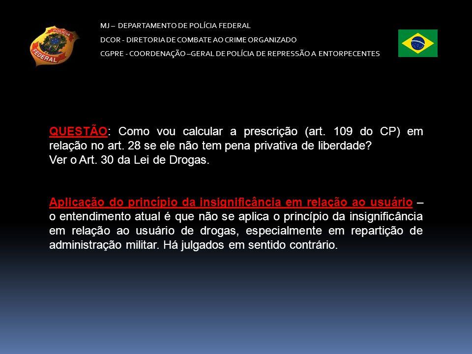 Ver o Art. 30 da Lei de Drogas.
