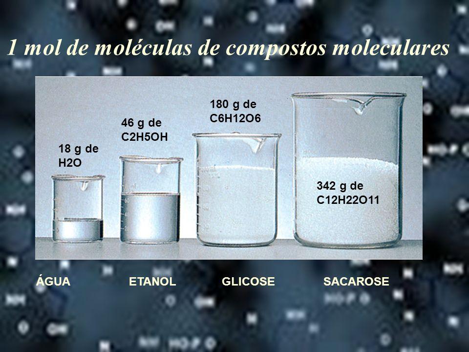 1 mol de moléculas de compostos moleculares
