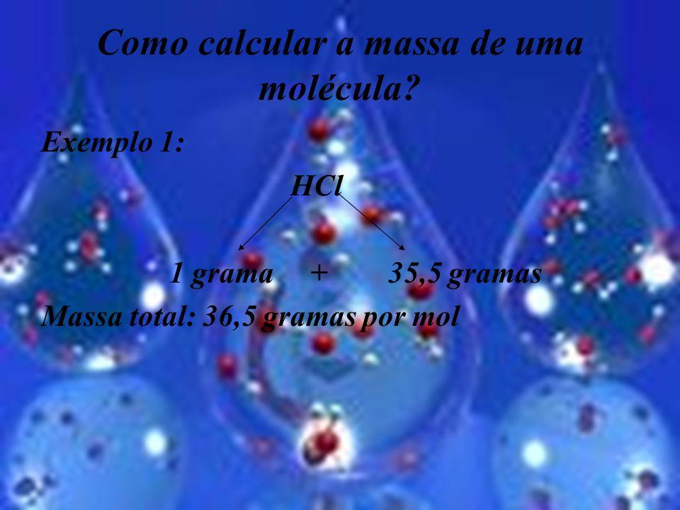Como calcular a massa de uma molécula