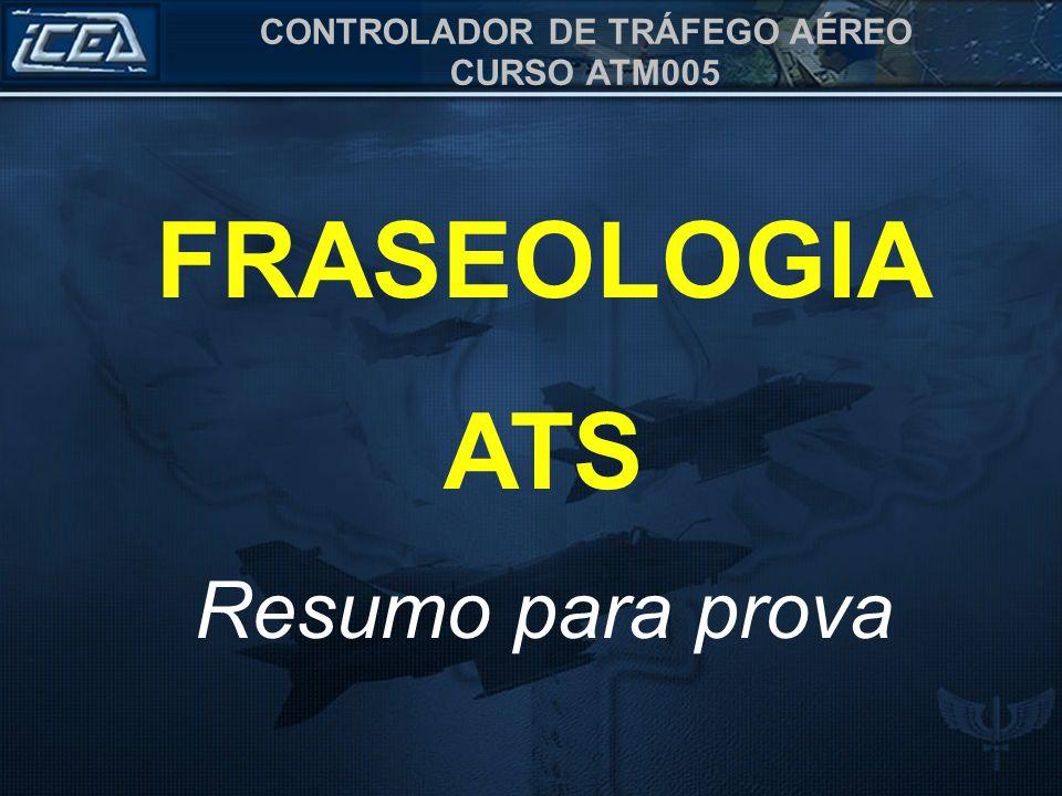 FRASEOLOGIA ATS Resumo para prova