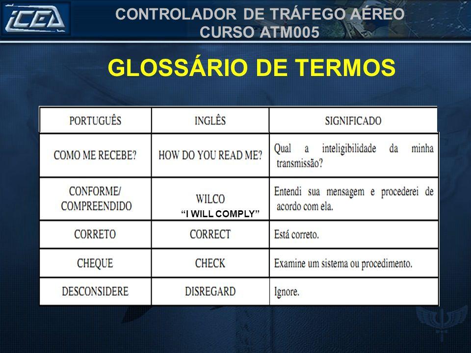 GLOSSÁRIO DE TERMOS I WILL COMPLY