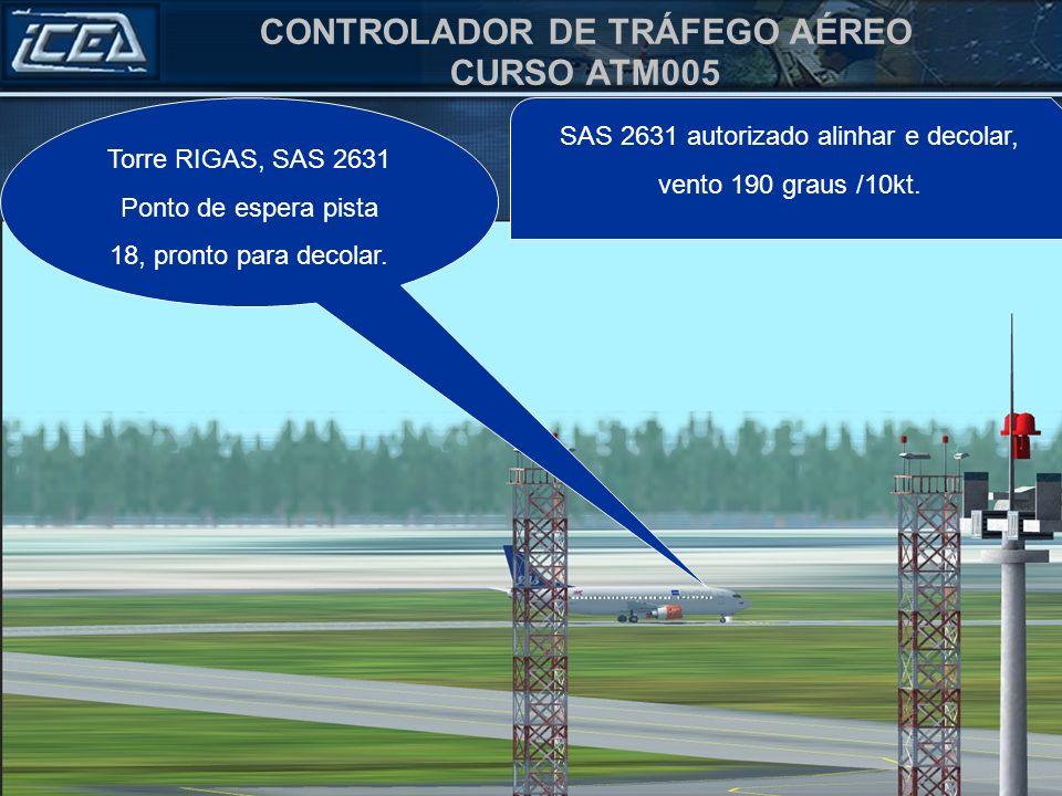 Torre RIGAS, SAS 2631 Ponto de espera pista