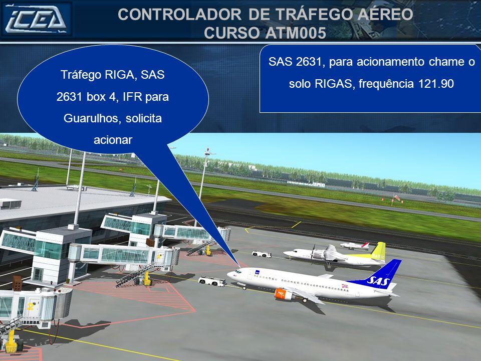 Tráfego RIGA, SAS 2631 box 4, IFR para Guarulhos, solicita acionar