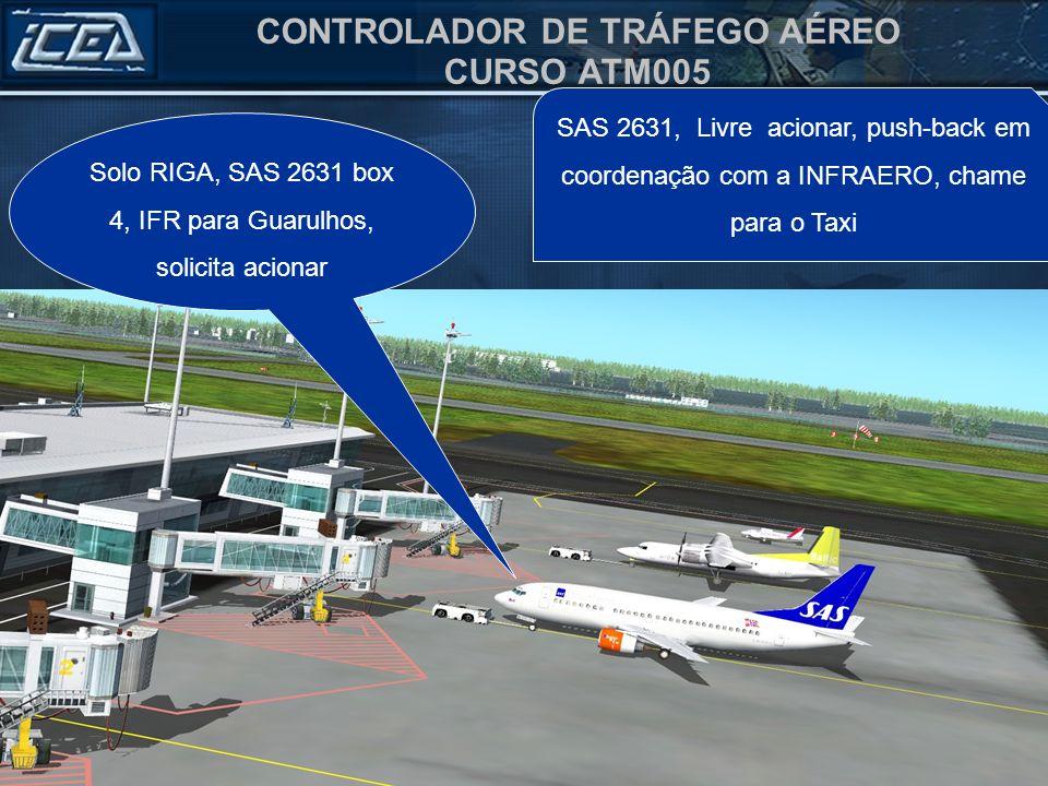 Solo RIGA, SAS 2631 box 4, IFR para Guarulhos, solicita acionar
