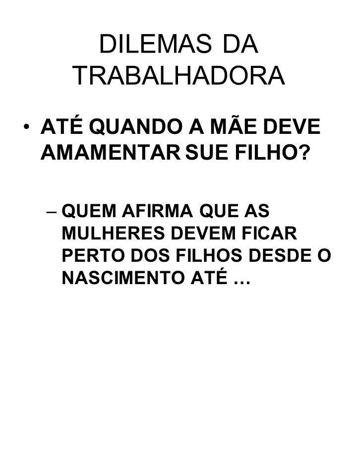 DILEMAS DA TRABALHADORA