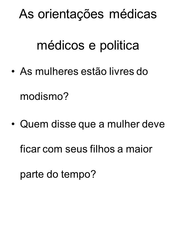 As orientações médicas médicos e politica