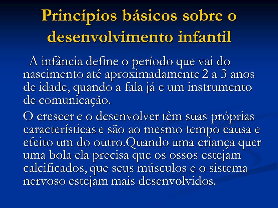 Princípios básicos sobre o desenvolvimento infantil