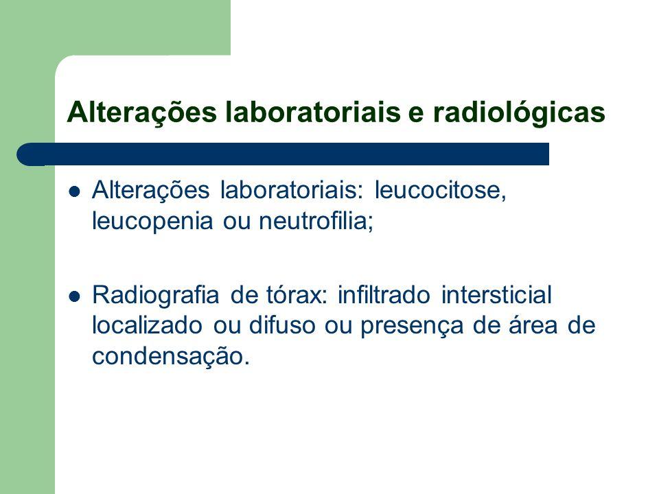 Alterações laboratoriais e radiológicas