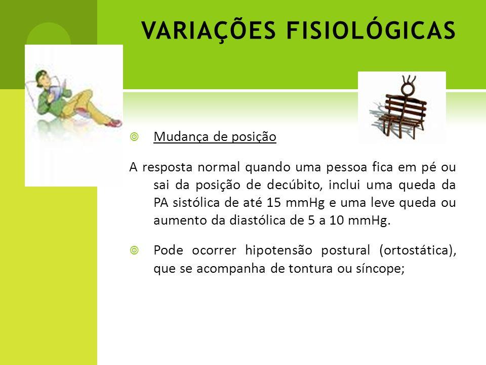 VARIAÇÕES FISIOLÓGICAS