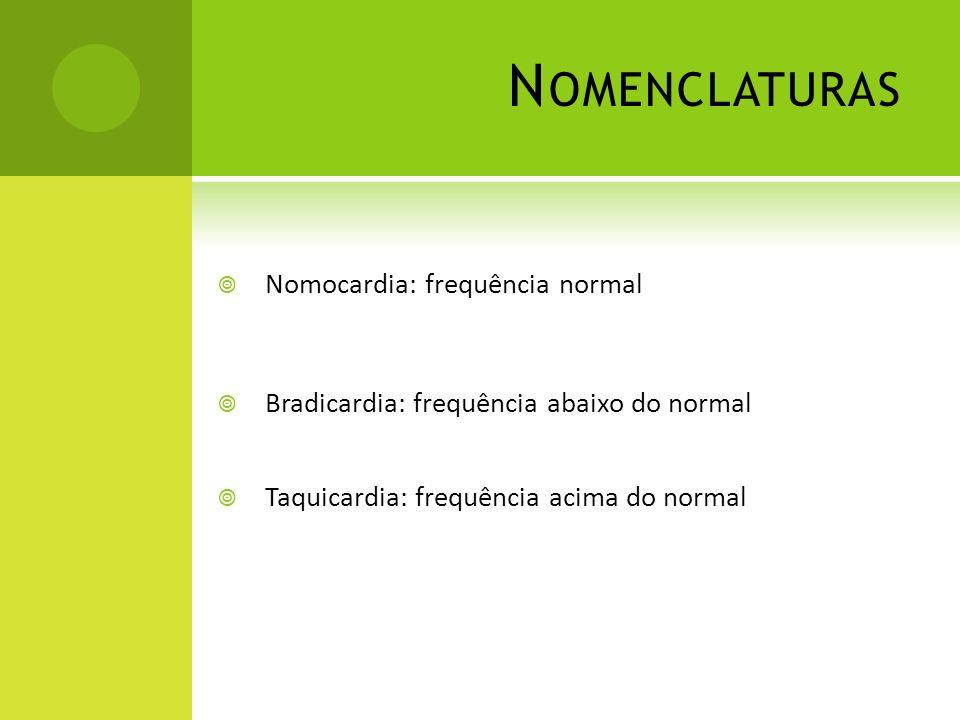 Nomenclaturas Nomocardia: frequência normal