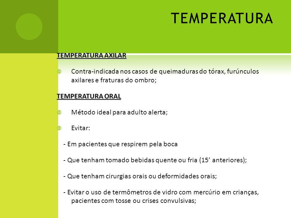 TEMPERATURA TEMPERATURA AXILAR