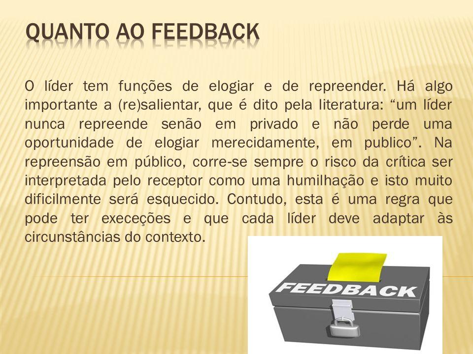 Quanto ao feedback