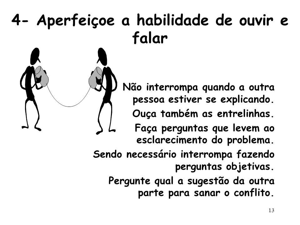 4- Aperfeiçoe a habilidade de ouvir e falar