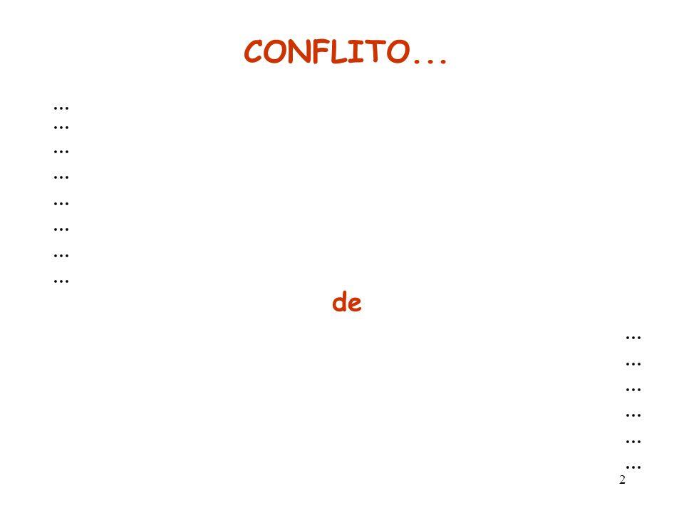 CONFLITO... ... de