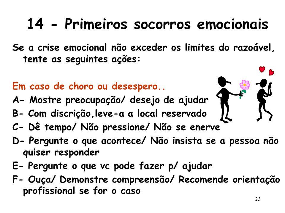 14 - Primeiros socorros emocionais