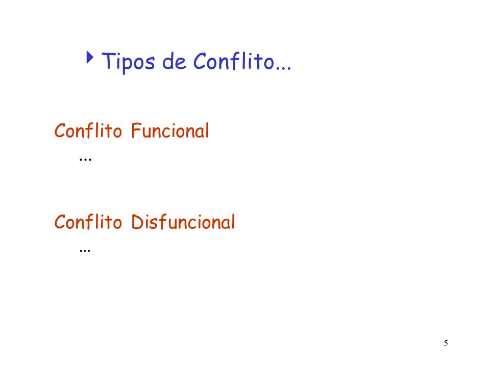 Tipos de Conflito... Conflito Funcional ... Conflito Disfuncional …