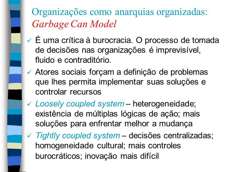Organizações como anarquias organizadas: Garbage Can Model