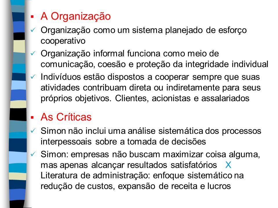 A Organização As Críticas