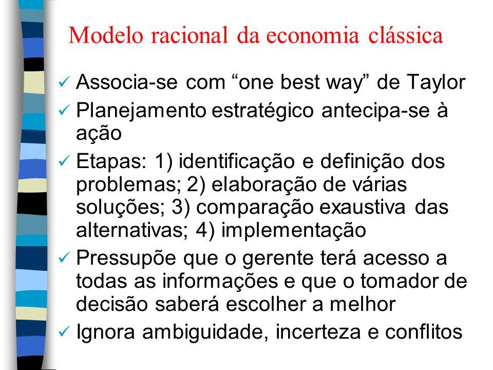 Modelo racional da economia clássica