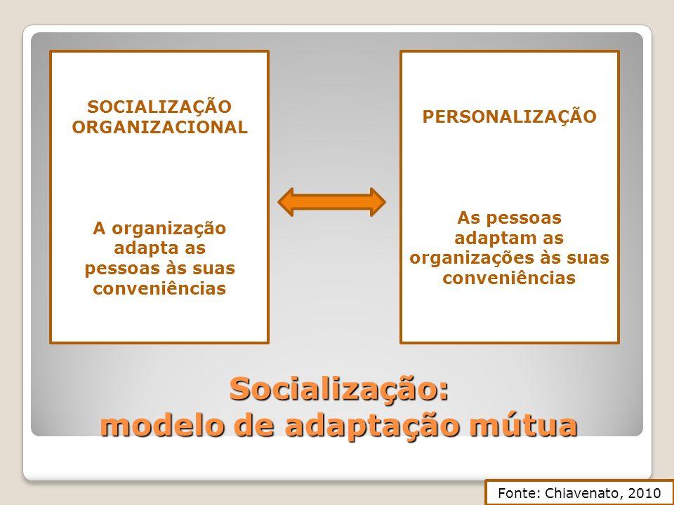 Socialização: modelo de adaptação mútua