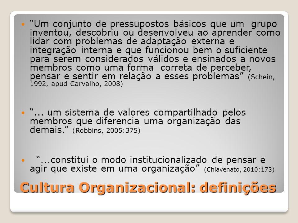 Cultura Organizacional: definições